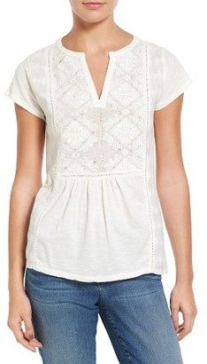Women's Lucky Brand Embroidered Blouse $49.50 thestylecure.com
