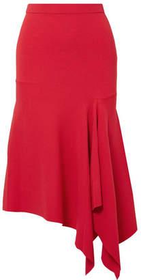 Jason Wu GREY - Asymmetric Stretch-ponte Midi Skirt - Red
