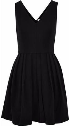 Halston Pleated Ponte Mini Dress