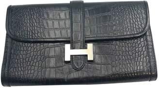Hermes Jige Alligator Clutch Bag