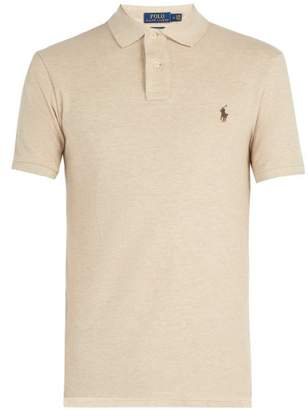 Polo Ralph Lauren Slim Fit Cotton Polo Shirt - Mens - Beige