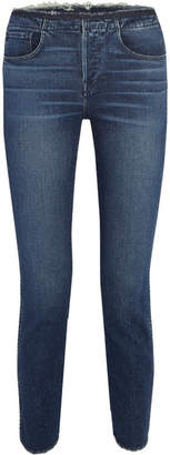 3x1 W4 Shelter Distressed High-rise Slim-leg Jeans - Mid denim