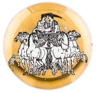 Fornasetti Set of 4 Vintage Chariot Coasters