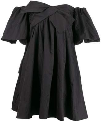 Paule Ka short off-the-shoulder dress