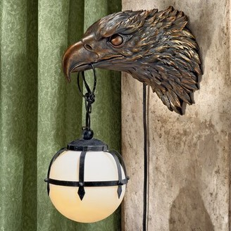 Toscano Design Enlightening Freedom Bald Eagle Sculptural Electric 1-Light Armed Sconce Design