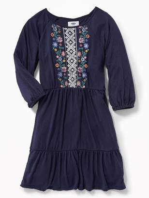 Old Navy Puff-Print Swing Dress for Girls