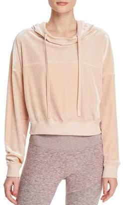 Alo Yoga Velour Cropped Hooded Sweatshirt