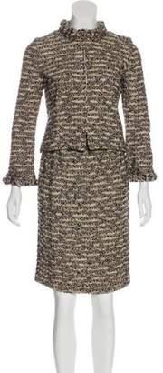 St. John Tweeded Knee-Length Skirt Suit
