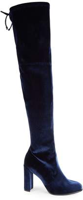 Stuart Weitzman Hiline Velvet Over-The-Knee Boots