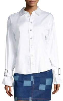 Opening Ceremony Belted Cuff Shirt