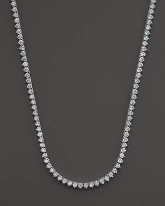 Bloomingdale's Certified Diamond Tennis Necklace in 14K White Gold, 15.0 ct. t.w. - 100% Exclusive