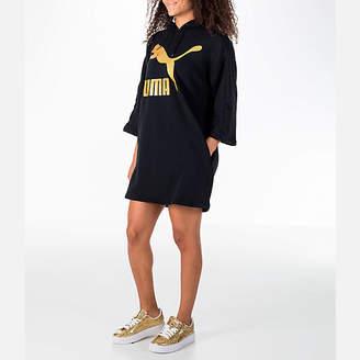 Puma Women's Glam Oversized Hooded Dress