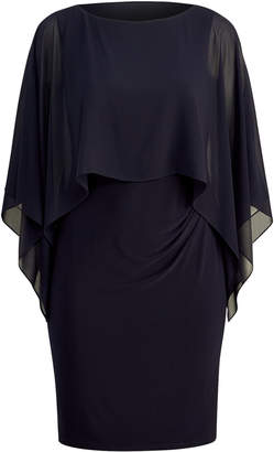 Ralph Lauren Crepe-Overlay Jersey Dress