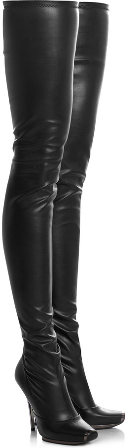 Stella McCartney Thigh-high faux leather boots