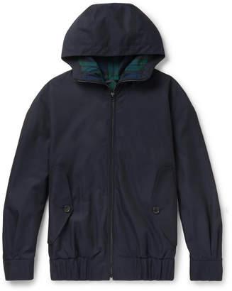 Burberry Cotton-Gabardine Hooded Bomber Jacket