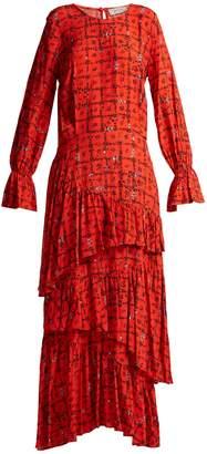Preen Line Amina floral-print tiered dress