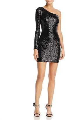 Nookie Europa One-Shoulder Sequin Mini Dress