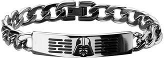 Star Wars FINE JEWELRY Mens Stainless Steel Darth Vader ID Bracelet