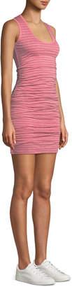Velvet Genisa Scoop-Neck Ruched Stripe Tank Dress