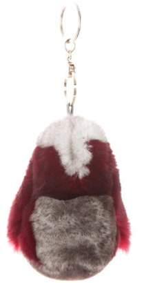 Loro Piana Fur Bunny Keychain white Fur Bunny Keychain