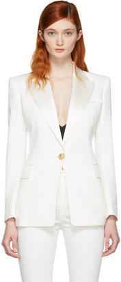 Balmain White Single Button Blazer $2,230 thestylecure.com