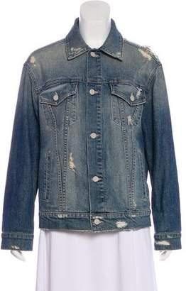 Mother Distressed Denim Jacket