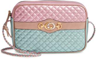 Gucci Small Quilted Metallic Leather Shoulder Bag