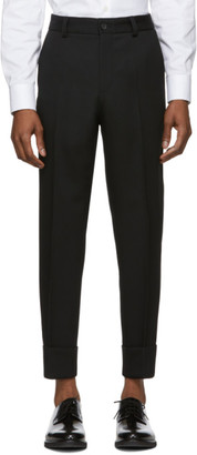 BOSS Black Wool Perin Trousers