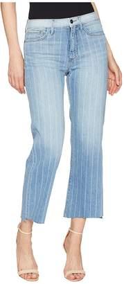 Sam Edelman The Chelsea Crop in Indigo Stripe Women's Jeans