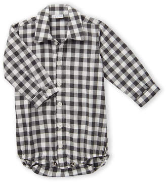 Manuell & Frank Newborn/Infant Boys) Check Shirt Bodysuit