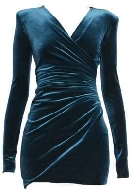 730b8f0e40d Alexandre Vauthier Velvet Jersey Ruched Cocktail Dress