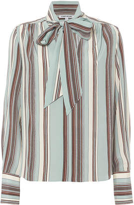 Elizabeth and James Mimi Neck Tie Striped Blouse
