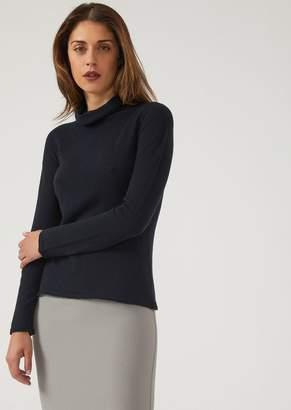 Emporio Armani Plain Knit Pure Cashmere Turtleneck