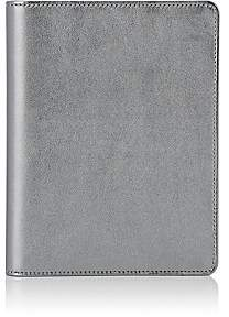 Barneys New York Leather Refillable Journal - Silver
