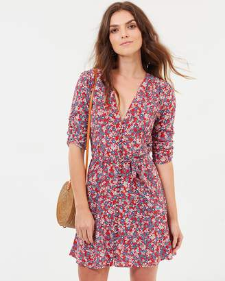 Nicholas Blossom Button Mini Dress
