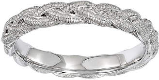JCPenney FINE JEWELRY Personally Stackable Sterling Silver Twisted Rope Stackable Ring