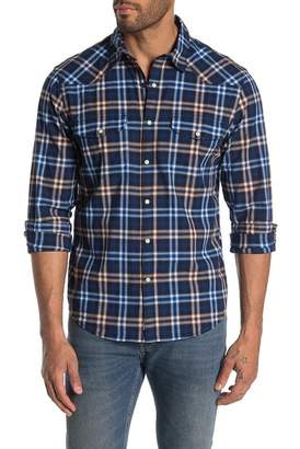 7cf7726f8f7 Lucky Brand Santa Fe Western Plaid Long Sleeve Classic Fit Shirt
