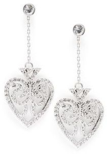 Bond Casino Crystal Spade Drop Earrings $140 thestylecure.com