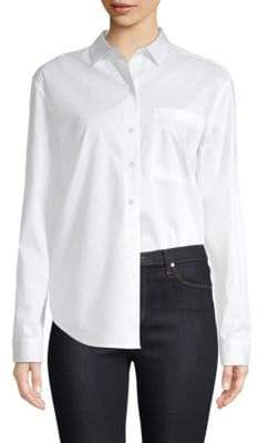ATM Anthony Thomas Melillo Cotton Poplin Boyfriend Shirt