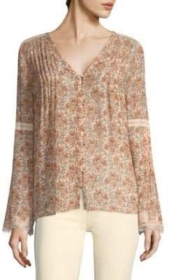 Paige Clio Floral Silk Blouse