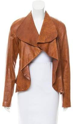 Yigal Azrouel Leather Open Front Jacket