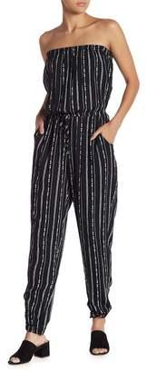 Gilli Strapless Striped Jumpsuit