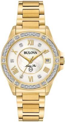Bulova Women's Diamond Goldtone Marine Star Watch