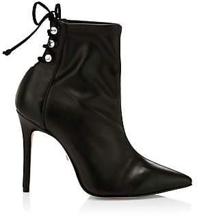 Schutz Women's Nilla Lace-Up Stiletto Boots