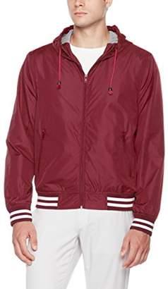 Otterline Men's Everyday Regular-Fit Light Weight Jacket Hood Brown S