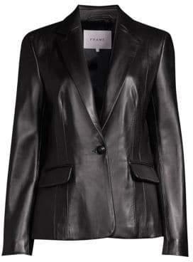 Frame Schoolboy Leather Blazer