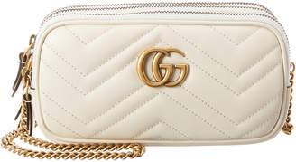 Gucci Gg Marmont Mini Leather Chain Crossbody