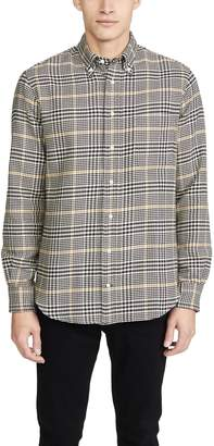 Gitman Brothers Cotton Houndstooth Tweed Button Down Shirt