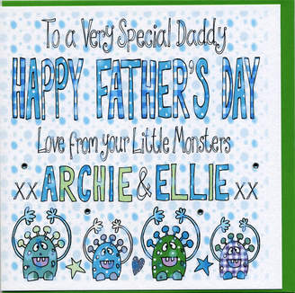 DAY Birger et Mikkelsen Claire Sowden Design Personalised Fathers Little Monsters Card