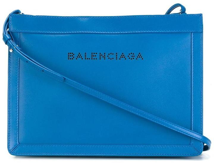 Balenciaga  Balenciaga perforated logo cross body bag